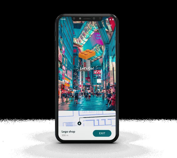 iPhone Vera Mockup - Wayfinding Retail